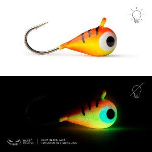Glow-In-The-Dark-Tungsten Ice Fishing Jig